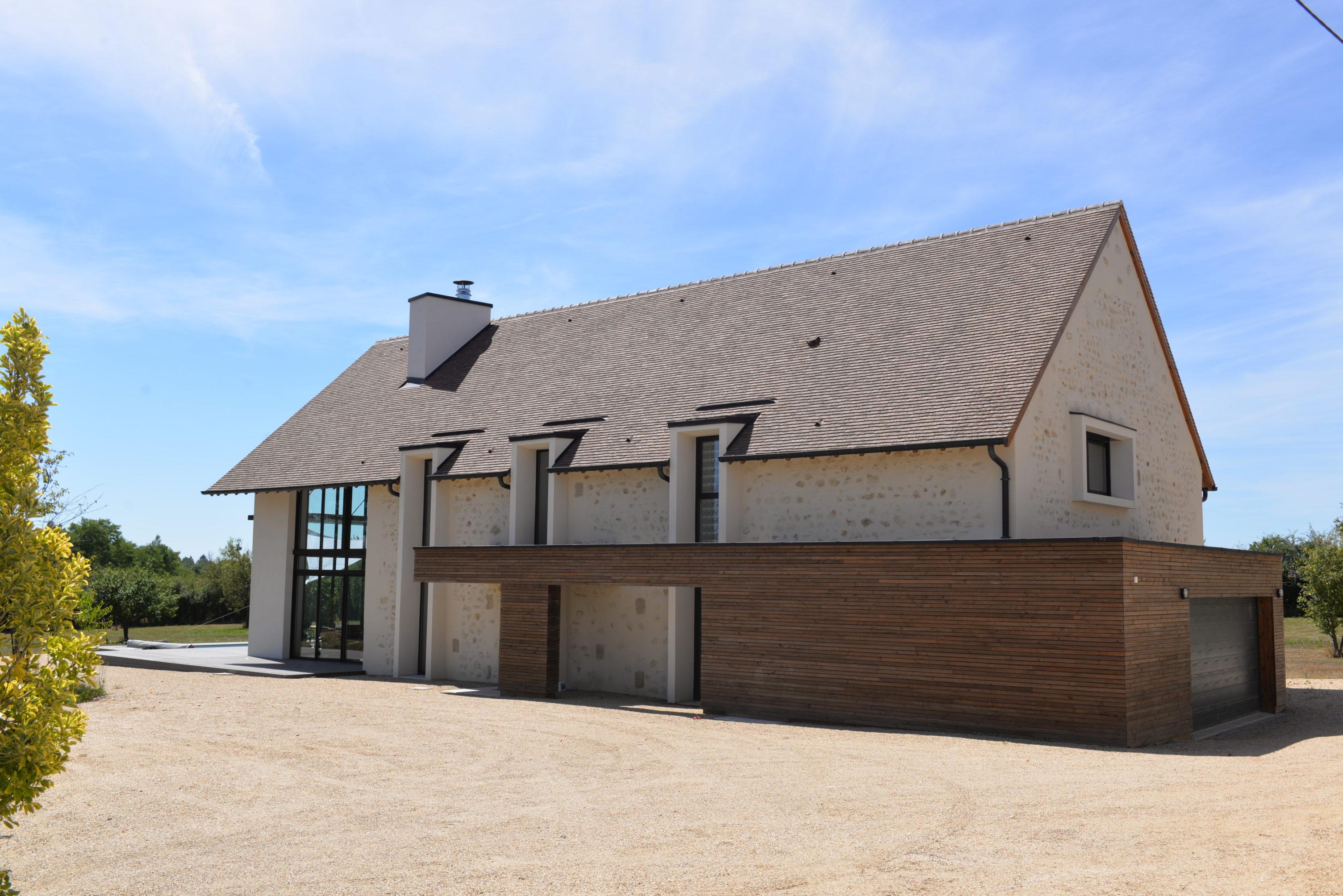 Réhabilitation D Une Grange En Habitation réhabilitation d'une grange en maison individuelle à trévol - mètre