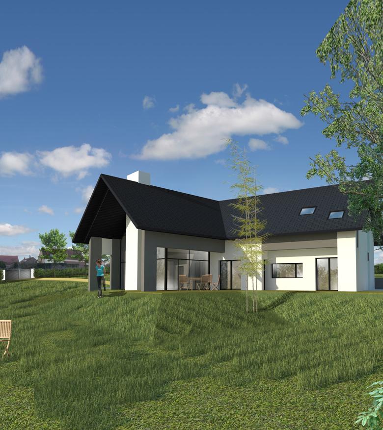 Une maison moderne dans le village de Franchesse - Mètre carré ...